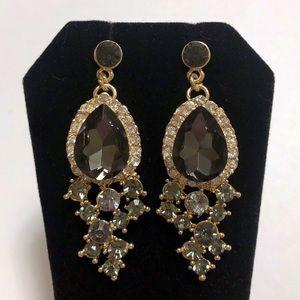 Sparkling Deep Purple Amethyst Crystal CZ Earrings